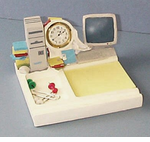 Computer Clock/ Post-note Tray - Discontinued -1/2 PRICE!