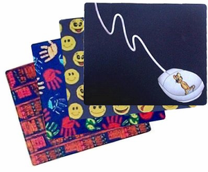 Computer & Teacher theme Mousepads