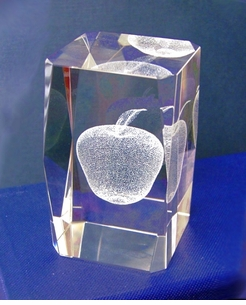 Crystal Apple Lazer Art Award - $8.95 ea.