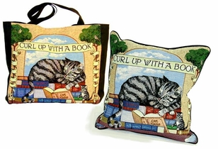 Curl up With a Book - Tote & Pillow -DISCONTINUED! ON SALE!