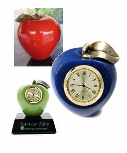 Custom Color Faux Marble Apples and Clocks