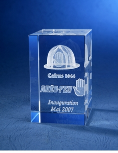 Customized Digital Crystal Paperweights