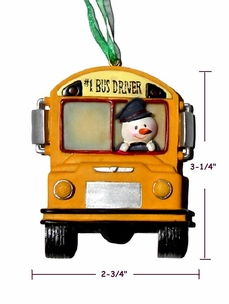 Cute School Bus Driver Ornament