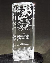 Diamond Design Lucite Award