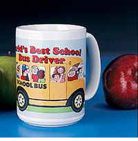 Economy Ceramic School Bus Driver Mug