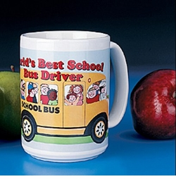 Economy Large Ceramic School Bus Driver Mug