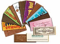 Economy Custom Chocolate Bars - Click on pic for info