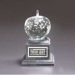 Effervescent Apple Award on Marble Base