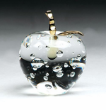 Elegant Clear Crystal Apple Paperweights
