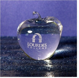 Elegant Crystal Apple - Can be Etched or Blank