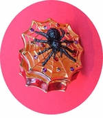 Elegant Web and Spider Hinged Trinket Box CLEARANCE!