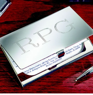Engravable Business Card Case