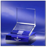 Etched Crystal Laptop Award