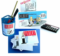 Fun 5  pc. DILBERT Collectibles Desk Set Closeout!