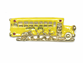 Fun School Bus Fashion Pins- 3 styles