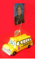Fun School Bus Photo/Note/Balloon Holder
