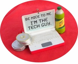 Fun Tech Guy Holiday Ornament - ON SALE!