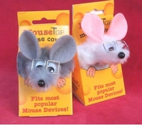 Fuzzy Mouse Cover in Swiss Cheese Box