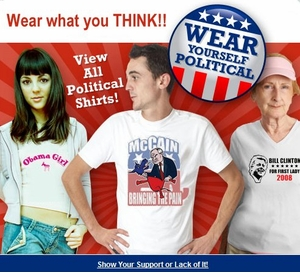 GO POLITICAL FUN T-SHIRTS