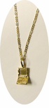 Gold Layered Computer Laptop Charm Necklace/ Matching computer earrings