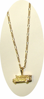 Gold Layered School Bus Jewelry