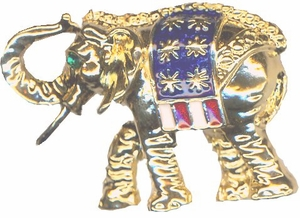Golden Elephant Republican Fashion Pin