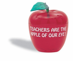 Imprinted Big Red Apple Container