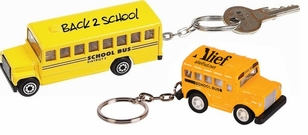 Imprinted Die Cast School Bus Key Ring - 2 sizes