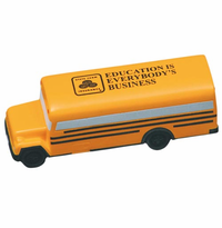 Imprinted  CONVENTIONAL SCHOOL BUS Squeezies