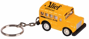 Imprinted Shorty School Bus Key Ring