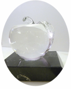 IN STOCK Hand Blown Crystal Clear Apple