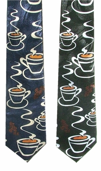 Java Coffee Poly Neckties-NOW only $6.50!