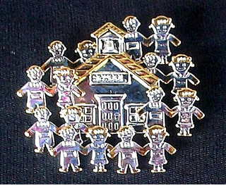 Kids Around the School House Pin - $7.95 CLOSEOUT!