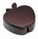 Large Polished Mahogany Wood Apple Trinket Box