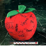 Large Teacher Autograph Apple