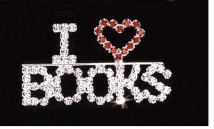 Librarian Pin - Book Reader Pins- 3 Designs - ON SALE!