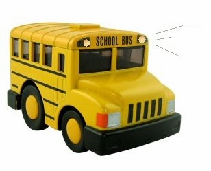 LIGHTS AND SOUND Die Cast Chubby Bus
