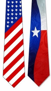 Lots of Silk & Poly Patriotic AND TEXAS Neckties