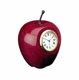 Marble Apple Clock