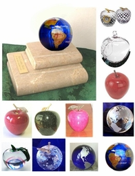 Marble Books with Globe