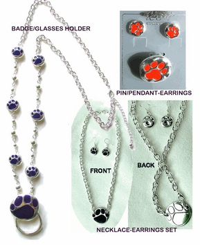 Mascot  Paw  Print Jewelry Sets - CLEARANCE! Now only $7.95