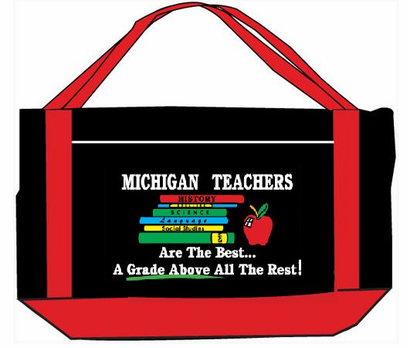 Michigan, Ohio, Louisiana, Texas, Florida Teacher Tote Bags, CLEARANCE!