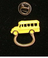 Mini School Bus Badge Holder/Eye Glasses holder