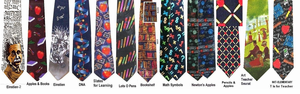 More Teacher Neckties List 2 - Science Ties, Math Ties, <BR>Reading Ties