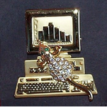"""Mouse Bytes"" Computer Pin"