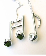 Music Notes Jingle Ornaments - pair -ON SALE!
