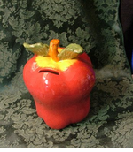 NEW! Ceramic Apple Bank