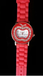 NEW Colorful Apple Face Rhinestone Watches