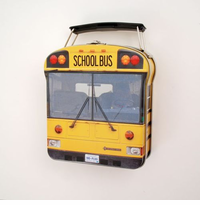 NEW! Colorful School Bus Sandwich Tin/ Gift Box