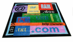 NEW! Colorful Tech Icons Pile Area Rug